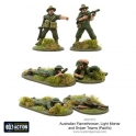 Australian flamethrower, light mortar and sniper teams (Pacific)