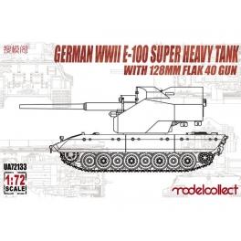 modelcollect 72133 E-100 avec canon AA de 128mm Flak 40