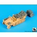 Black dog T72080 Sd.Kfz 10 with Sd.Ah.32 accessories set