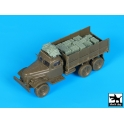 Black dog T72104 Zil 157 Soviet army truck accessories set