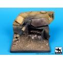 Black dog D35009 Destroyed M1A1 Abrams base