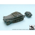 Black dog T48009 Sd.Kfz.252 + Sd.Anh.32 conversion set