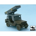 Black dog T48027 Jeep with rocket launcher