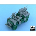 Black dog T48054 British SAS Jeep Europe 1944