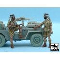 Black dog T48056 British SAS Jeep Crew Afrika (2 figures)