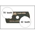 CMK 5 scies résine dentition mixte (42-70 dents)