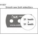 CMK 5 scies résine dentition fine (31 dents)