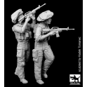 Black dog F35070 Israel army soldiers set
