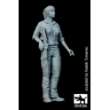 Black dog F35089 Israeli woman soldier N °1