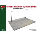 Street Section w/Tram Line in 1:35