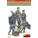 Miniart Germans Soldiers w/Fuel Drums. Special Edition