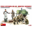Field kitchen KP-42 winter scenary
