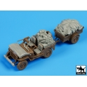 Black dog T35098 Us Jeep airborne after drop accessories set