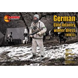Mars 72111 Infanterie d'élite allemande en tenue d'hiver 39/45