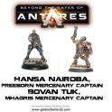 Hansa Nairoba & Bovan Tuk, Mercenary Captains