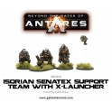 Isorian Senatax support team with X-Launcher