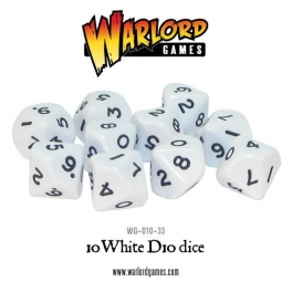 D10 Dice Pack - White (10)