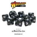 D10 Dice Pack - Black (10)