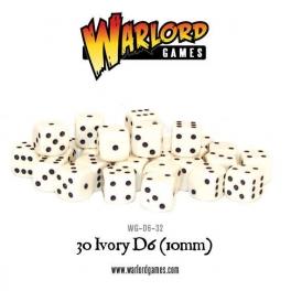 D6 Dice Pack - Ivory (30)