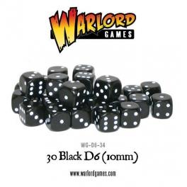 D6 Dice Pack - Black (30)