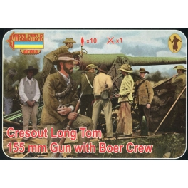 Strelets A014 Canon Cresout Long Tom 155mm avec servants Boers (Guerre des Boers)