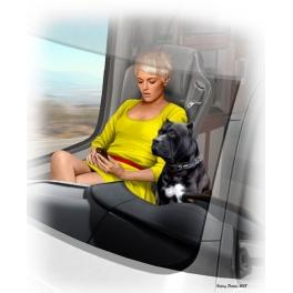 MB24045 - Les camionneurs - Joni(Lookout)Johnson et son chien Maxx