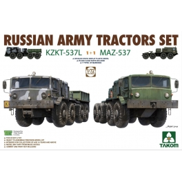 Takom 5003 Tracteurs russes modernes KZKT-537L et MAZ-537