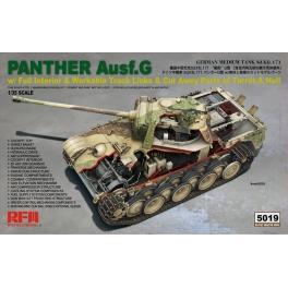 Rye Field Model 5019 Char allemand Sd.Kfz.171 Panther Ausf.G avec intérieur détaillé