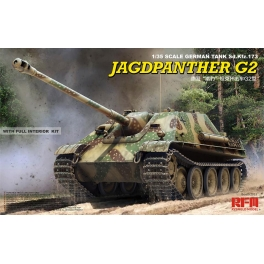 Rye Field 5022 Chasseur de chars allemand Jagdpanther G2 avec intérieur détaillé