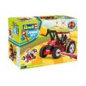Revell junior - tracteur avec fourche élévatrice et figurine