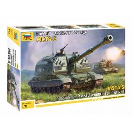 Zvezda 5045 Obusier automoteur russe 152mm MSTA-S