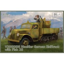 IBG 72075 Camion semi-chenillé V3000SM Maultier avec canon AA Flak 38