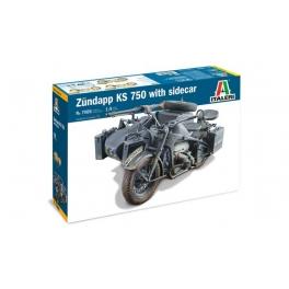 Italeri 7406 Sidecar allemand Zündapp KS 750