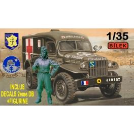 "Bilek B994 Dodge WC-54 Ambulance + figurine Conductrice ""Rochambelle"""