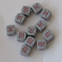 Order Dice - Grey with Red