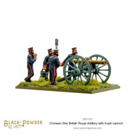 Crimean War British Royal Artillery with 9-pdr Cannon