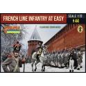 Strelets 225 Infanterie de ligne française au repos en tenue d'hiver – Compagnies de flanc