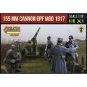 Strelets A018 Obusier de 155mm St Chamond avec servants en tenue d'hiver fin 1ère GM