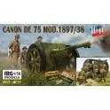 IBG 35056SPE Canon de 75mm français Série limitée 1940 avec 4 figurines + caisses munitions