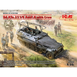 ICM 35104 Sd.Kfz.251/6 Ausf.A avec équipage