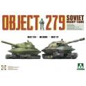 Takom 5005 Chars soviétiques Object 279 + Object 279M + figurine soldat en tenue NBC