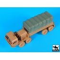 Blackdog T72115 - 1/72 M 977 Cargo truck canvas accessories set