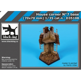 Black Dog D35108 - 1/35 House corner N°7 base
