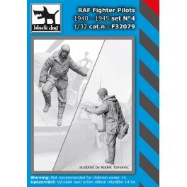 Black Dog F32079 - 1/32 RAF fighters pilots 1940-45 set N°4