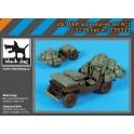 Black Dog T35221 - 1/35 Us jeep accessories set