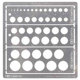 Tamiya 74150 modeling template round 1-12,5 mm