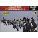 Strelets 209 - Grenadiers autrichiens en tenue d'hiver en marche - Set 1