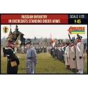 Strelets 219 - Infanterie russe en manteaux debout armes aux pieds