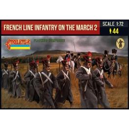 Strelets 220 - Infanterie de ligne française en marche - Set 2 - Compagnies de flanc
