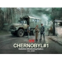 ICM 35901 Set Tchernobyl 1 - Station de mesure de la radioactivité (Zil 131 KShM + 5 figurines + check-point)